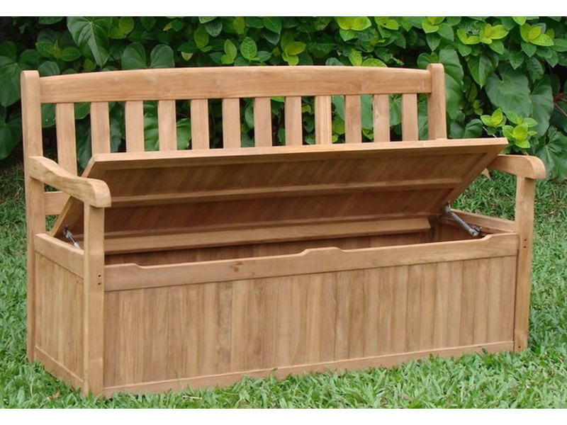 Outdoor Wood Bench Part - 47: Devon 5 Feet Bench With Storage Box