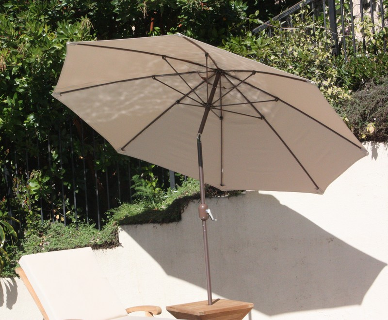 Wooden Large 10 Feet Rectangle Market Umbrella Natural  Brass color coupling New